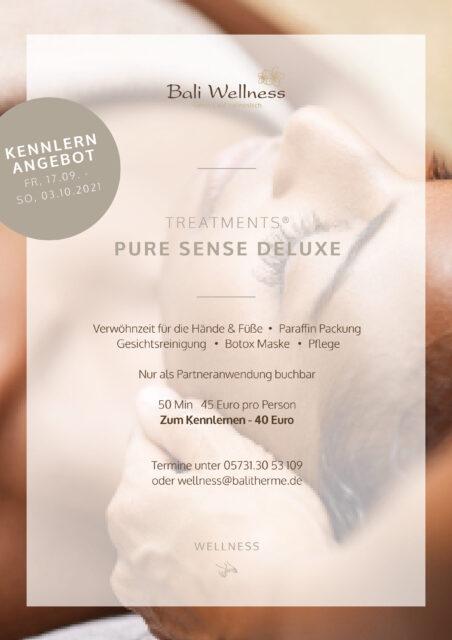 2021 09 Pure Sense Desluxe Kennlernangebot Plakat