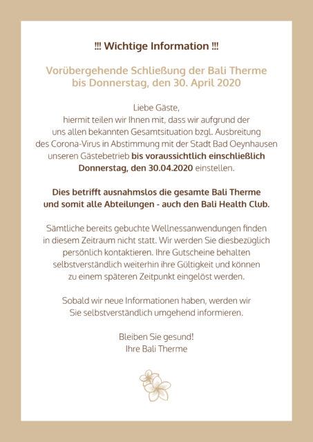 Neu Schließung Bali Therme