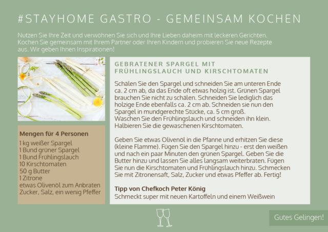 #stayhome Gastro Spargel 4 Und 6